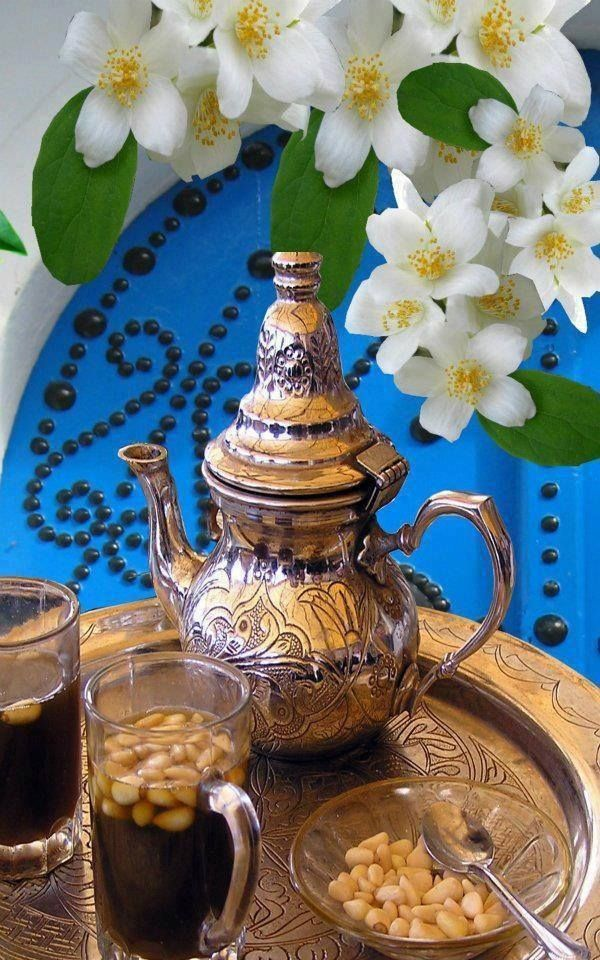 tunisian tea, (with pine nuts or no)...to drink very hot...so good!