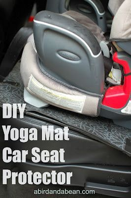 DIY Yoga Mat Car Seat Protector - Keep your back seats dent free (and clean too)!