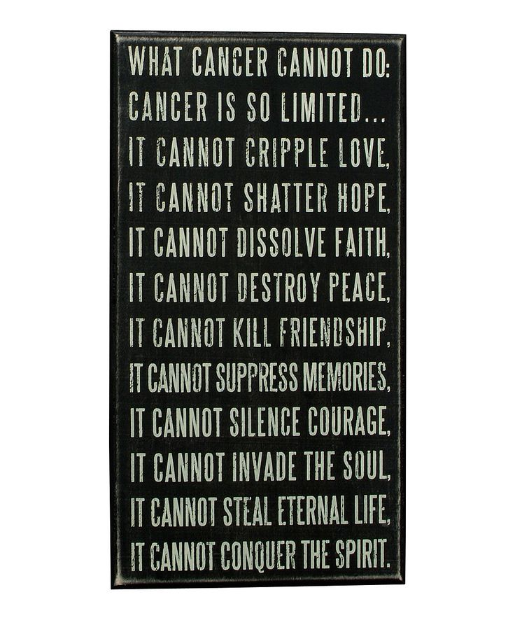 Look at this 'Cancer Cannot' Box Sign on #zulily today!