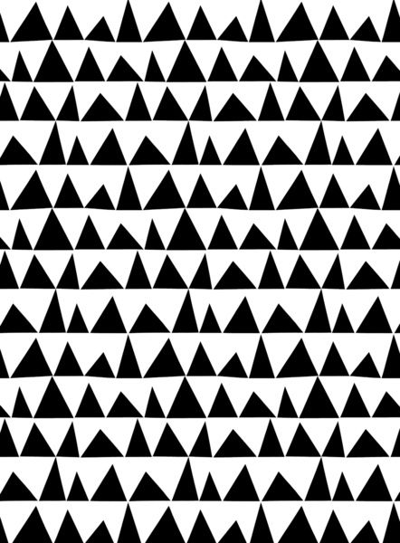 Playful triangles Art Print by Cecilia Andersson