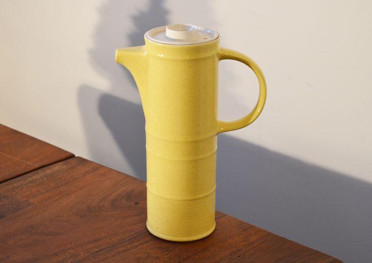 Brendan Erin Stone Irish Teapot Yellow Ironstone Coffee