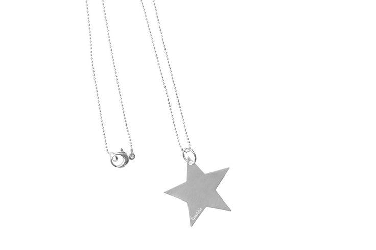 Zilveren ketting met hanger ster large lang | Kaschka Jewellery