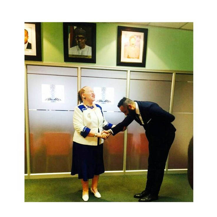 Today: Greeting The Nigerian Ambassador to South Africa Her Exellency Ambassador (Mrs) Uche Ajulu -Okeke before our meeting at The Nigerian Embassy in Johannesburg together with the Cross River Government delegation.  Your Exellency, you make us West Africans proud.    #work #southafrica #nigeria #ghana  #suitlife #embassy #crossriver #sa #calabar #joburg #proudlyafrican