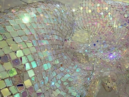 "Soo Sunny Park's ""Unwoven Light"" at Rice University Gallery."