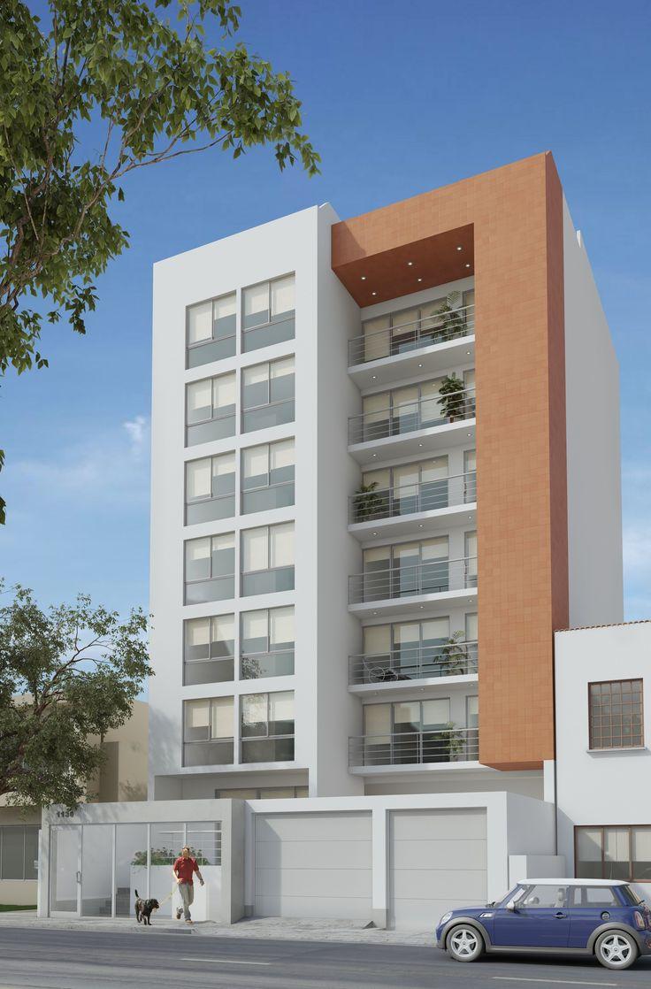 Fachada 2500 3800 arquitectura casas for Fachadas modernas para casas de tres pisos