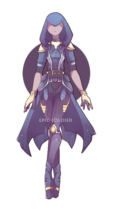 custom outfit commission 8 by epic soldier female rogue thief assassin sorcerer wizard warlock sorceress