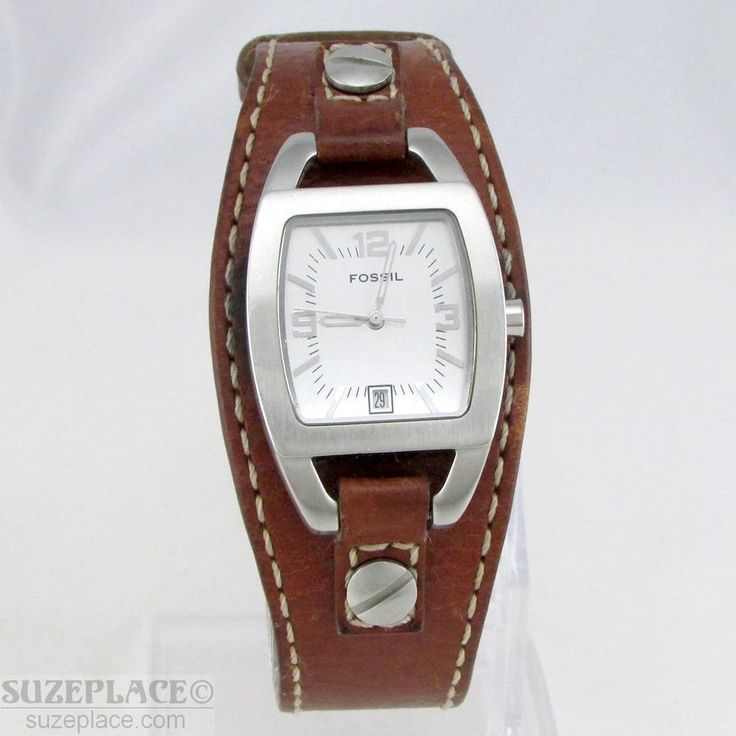 FOSSIL LADIES WATCH BROWN LEATHER BAND 1 J' RONDA MVMNT DATE JR8157 NEW BATTERY #Fossil #SuzePlace www.SuzePlace.com