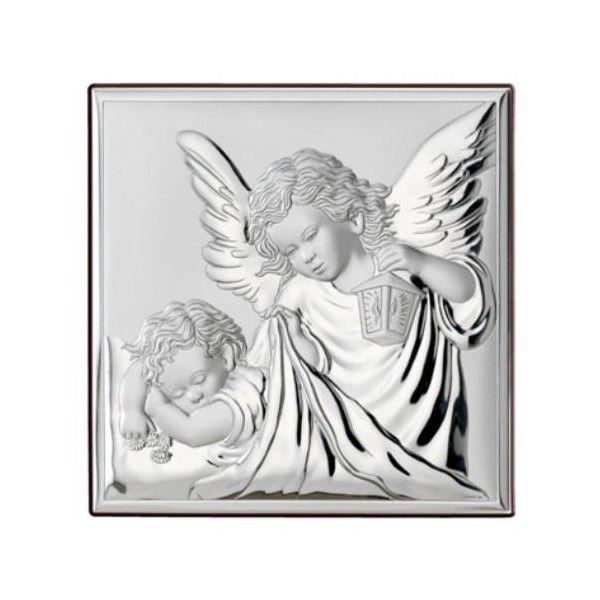 srebrne obrazki na chrzciny