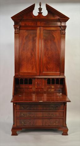 Chapter 13: Furniture. Colonial Secretary Desk, Mahogany Secretary Desk,Antique Styling.