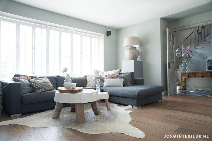 Taupe woonkamer woonkamer livingroom natuurlijk natural for Taupe woonkamer