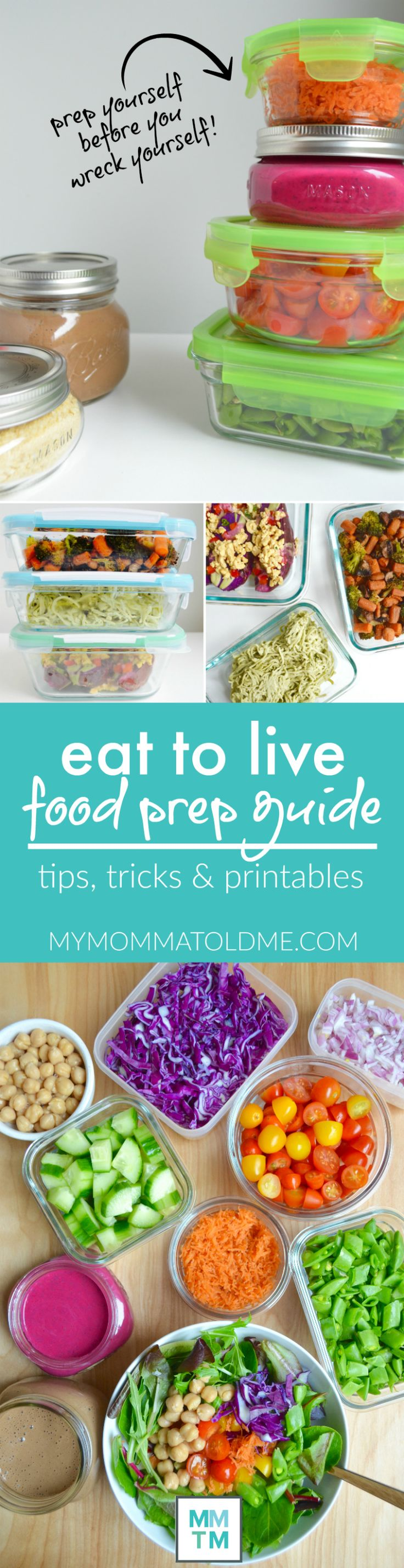 Everything you need to eat clean, nutritarian, whole food plant-based, no-oil for a week! Meal prep on Sunday and eat to live all week long! Get a free printable meal planning schedule!