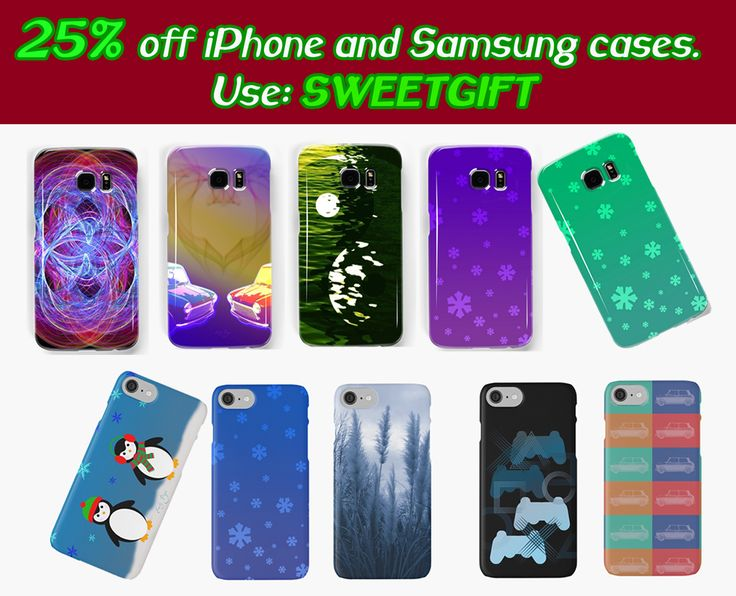 25% Off iPhone and Samsung cases. Use code: SWEETGIFT #iPhone #XmasGifts #iPhoneCases #penguin #ps3 #snowflakes #minicooper #yinyang #fractal #frozen #SamsungGalaxyCases #ChristmasGifts #discount #sales #xmassales #xmasshopping #redbubble #emilypigou #giftsforhim #giftsforher #giftsforkids #kids #cases #phonecases