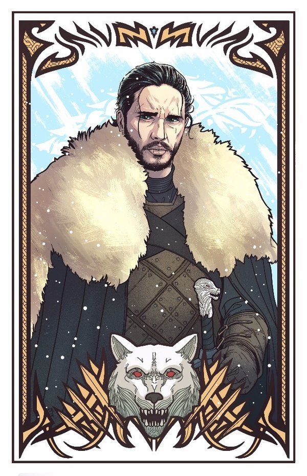 Jon Snow! Prints available: society6.com/product/white-wol…