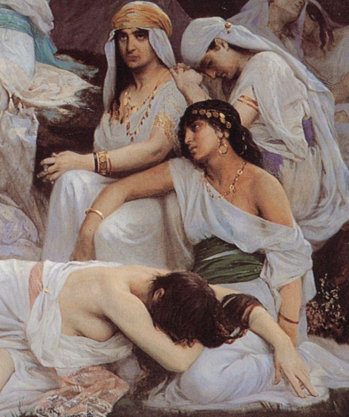 detailsofpaintings:  Edouard Debat-Ponsan, The Daughter of Jephthah (detail)1876