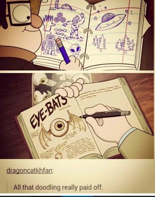 """draw more, kids"" Gravity Falls"