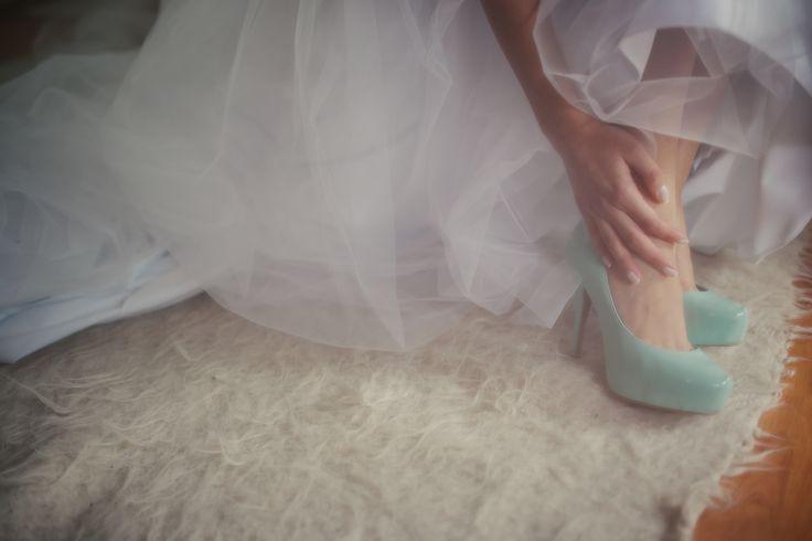 Mint shoes wedding