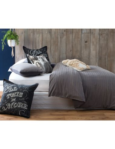 This Rust duvet cover set from Linen House features rough pewter and granite hues that are interwoven with shades of grey for an on-trend industrial look.