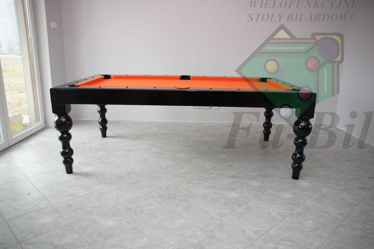 bilard blak and orange table