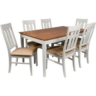 Wiltshire two tone dining table 8 chairs from homebase for 2 tone dining room tables