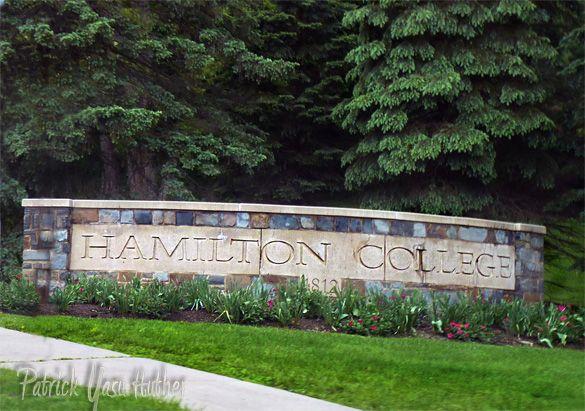 Entry to Hamilton College in Clinton,NY