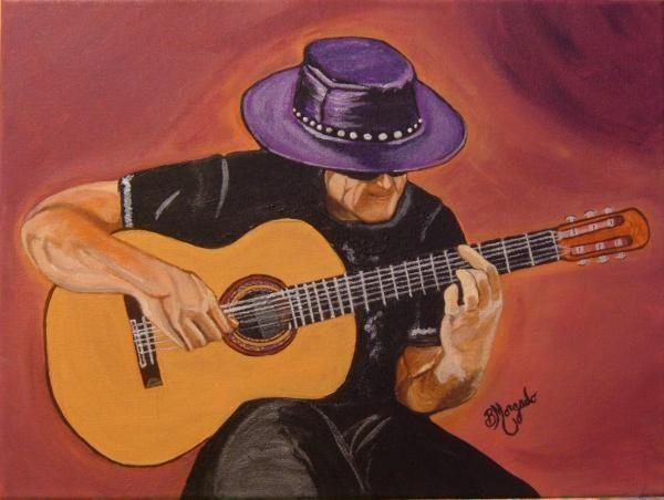 Flamenco Guitar Painting By Brenda Morgado