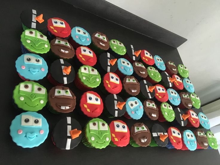Cars cupcakes 50st