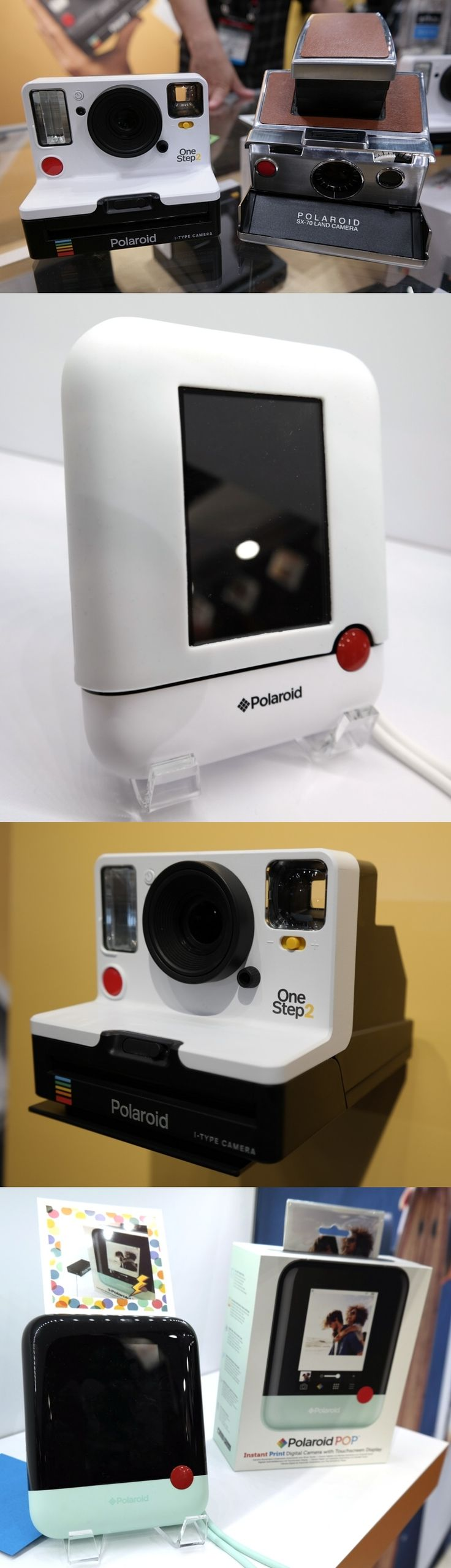 The new $100 Polaroid OneStep 2 and refurbished 1970s-vintage Polaroid SX-70 ($400) instant cameras are ready for the holiday season thanks to Polaroid Originals, which also manufactures classic Polaroid films. The boxy, 20-megapixel Polaroid Pop ($200) instant digital camera, made under license by C+A Global, uses ink-free Zink thermal paper instead of Polaroid film. The Pop has a 4-inch touchscreen, yields 3.5-by-4.5-inch prints and can take 1080p videos. CLICK THE PIC for more…