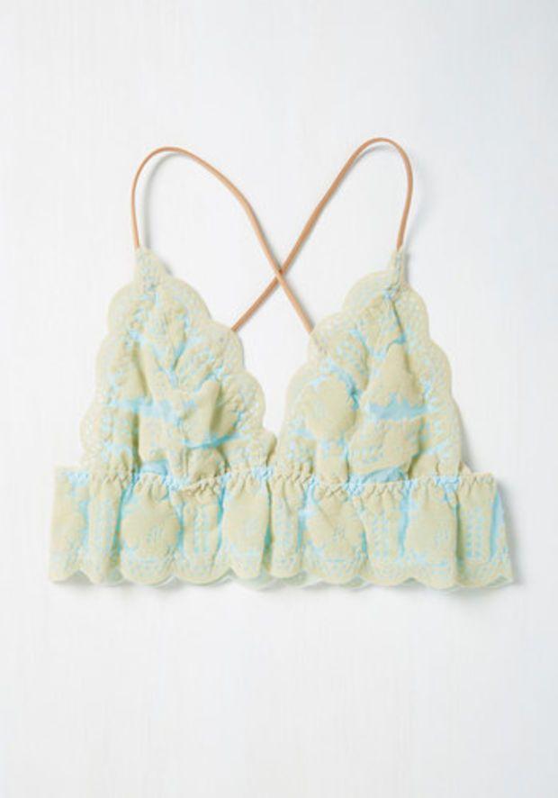 Dearest Dreams Bralette in Sky | Mod Retro Vintage Underwear | ModCloth.com