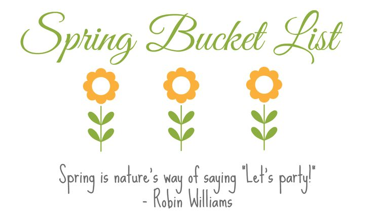 Wife Mommy Me: Spring Bucket List: Toddler, Momma & Family #bucketlist #spring #activities #outdoors #goals