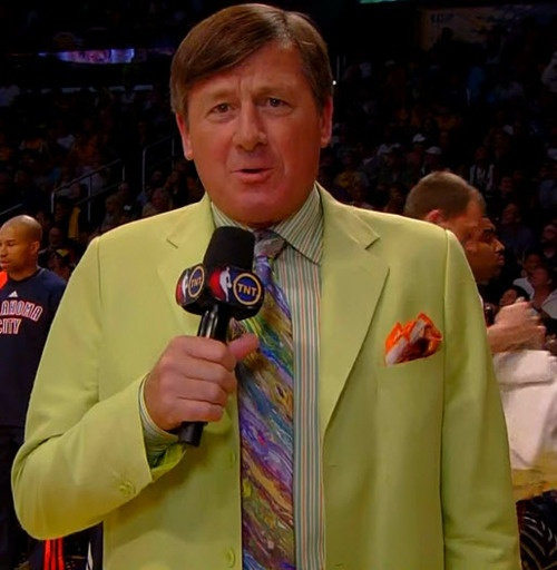 Best part of NBA basketball:            Craig Sager's suits!!