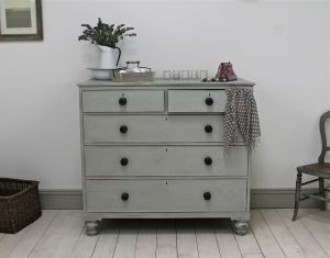 Distressed Victorian Painted Chest Of Drawers - For Sale | Distressed But Not Forsaken