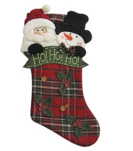 20u0027u0027 Stocking Plaid  HoHoHo : Stockings, Holders U0026 Tree Skirts : Christmas