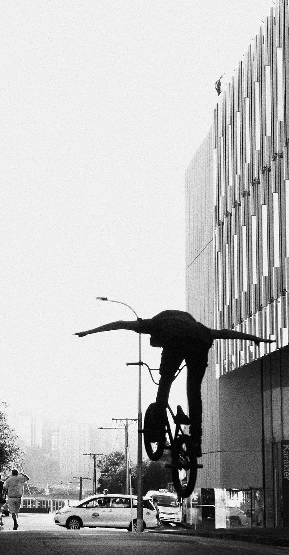 BMX Black and White Photography