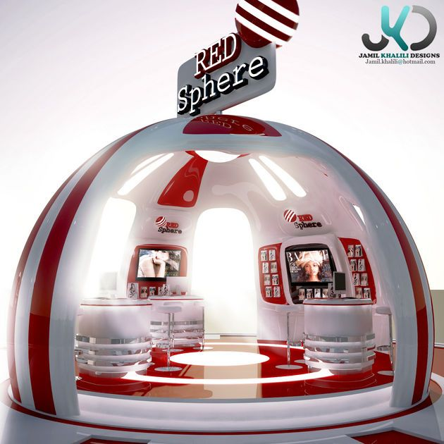 CGarchitect - Professional 3D Architectural Visualization User Community | Red Sphere - Exhibition Booth Concept Design - Dubai / United Arab Emirates