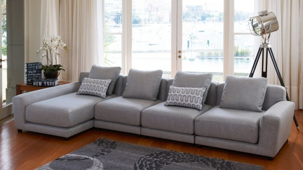 Rossi 4 Seater Modular Lounge - Lounges & Recliners | Harvey Norman Australia