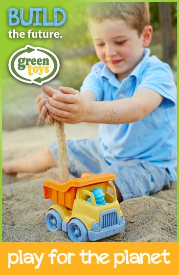 Show us how your child plays for the planet. Upload a photo of your child outside with their favorite #greentoy and use #playfortheplanet