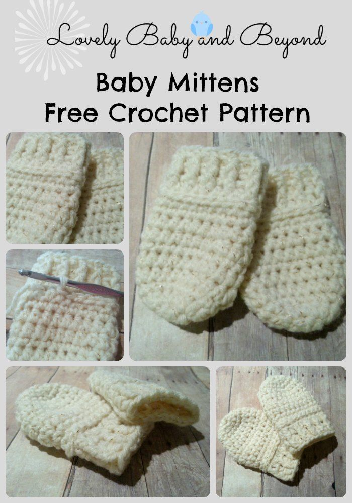 Free Baby Mittens crochet Pattern by Lovely Baby and Beyond