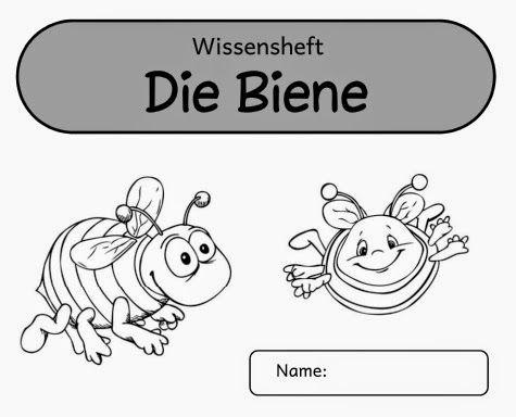 Ideenreise: Kleines Arbeitsheft (Wissensheft) zur Bienenkartei