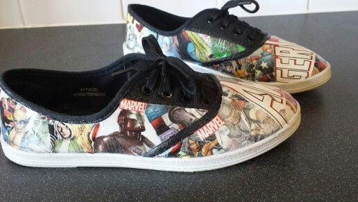 Customised boys Avengers pumps