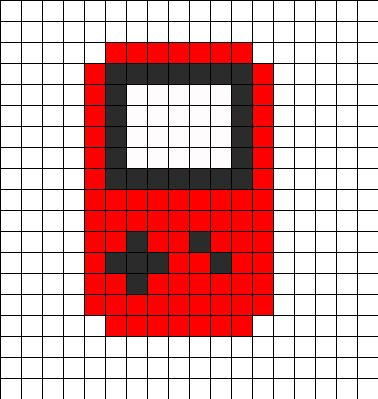 Game Boy Red Perler Bead Pattern | Bead Sprites | Misc Fuse Bead Patterns