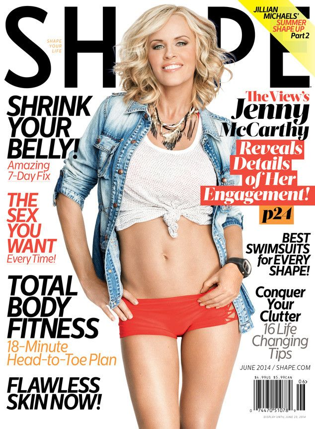 Jenny McCarthy Shows Off Her Fabulous Figure in Shape, Strikes a Sexy Pose With Donnie Wahlberg | E! Online Mobile