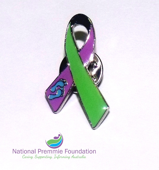 Australia Premmie Awareness Lapel Pins created by our committee members in 2012.