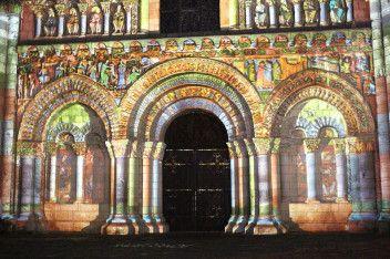 polychromies église Notre-Dame, Poitiers