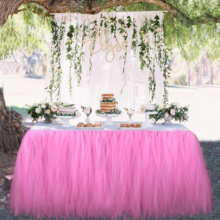 Tulle Table Skirt Decoration - 6 Colors – Duffy Stuff