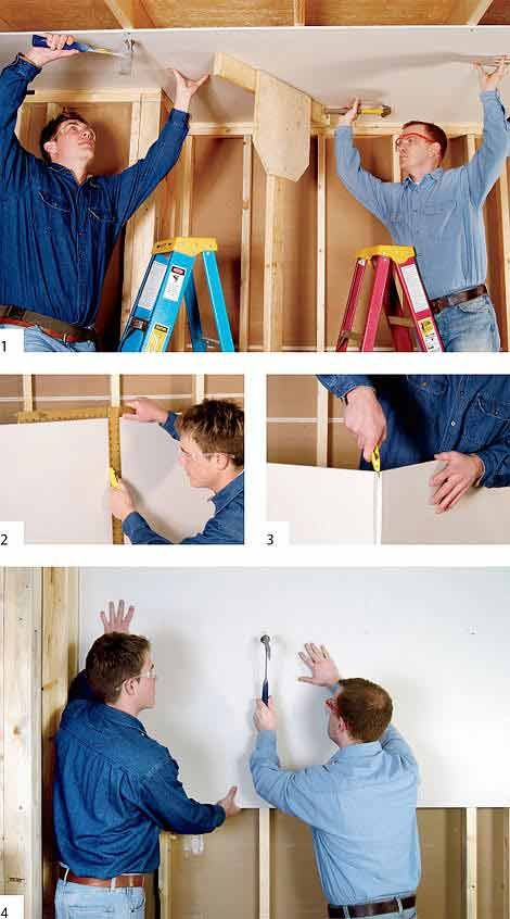 Drywall Made Simple: Buy, Install and Finish in 13 Easy Steps - From the tools and taping to the hanging and texturing, we take you start to finish on how to install drywall.