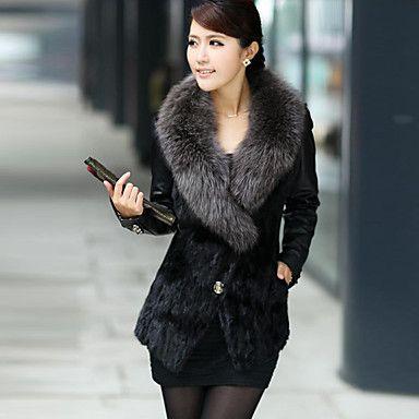 Coko   Large Yard Fur Collar Faux Fur Coat – AUD $ 46.94