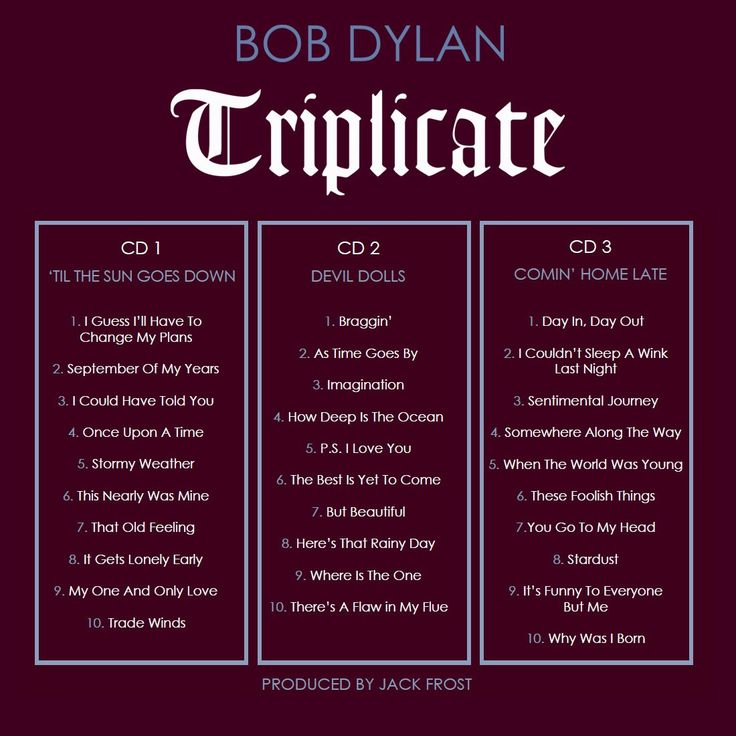 Bob Dylan's First Three-Disc Album — Triplicate — Set For March 31 Release | The Official Bob Dylan Site