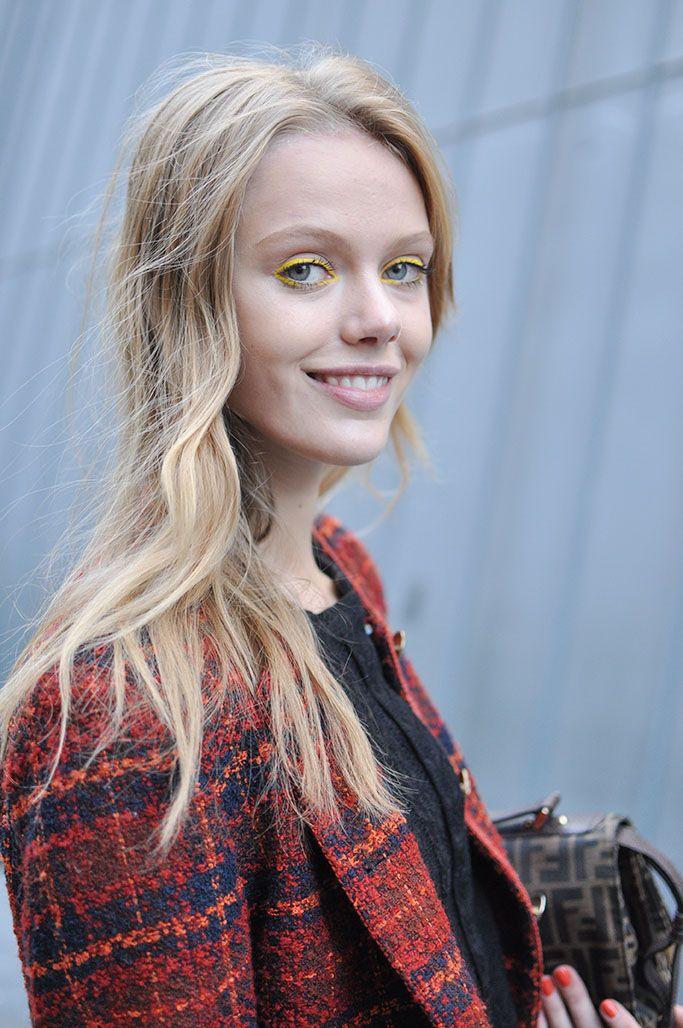 Frida Gustavsson | Yellow Eyeshadow