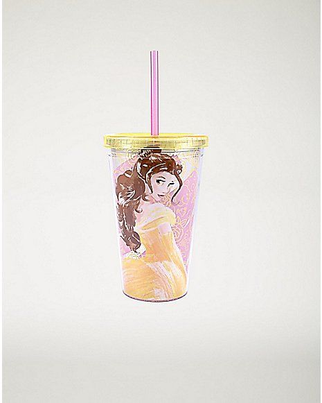 Belle Disney Cup With Straw - 16 oz - Spencer's