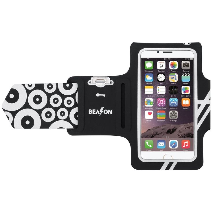 BEASON Running Armband, Waterproof Sports Workout Armband with Key Pocket for iPhone 7/6/6s, Black. COMFORTABLE -- The BEASON running armband for iPhone 7/6/6s is made of premium nylon which is very lightweight and friendly to your skin, making running and workout more comfortable and relax. Note: For iPhone 6/6s with otterbox case, our armband for iPhone 6 Plus/6s Plus is better choice for you. WATERPROOF & SWEATPROOF -- The BEASON armband is water resistant and hand washable with gentle...